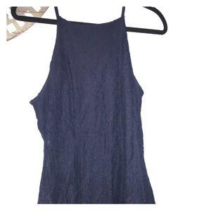 Size large navy blue sleeveless dress